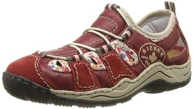 Rieker L0556, Damen Sneakers, Rot (fire/rosso/weiss-multi / 33), 36 EU (3.5 Damen UK)