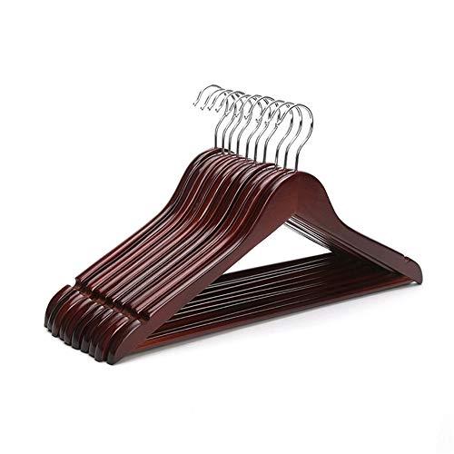HCHHCN Rotes Mahagoni Holz 17-Zoll-Anzug Kleiderbügel, Burgunder Kleiderbügel (12 Teile/Los) -