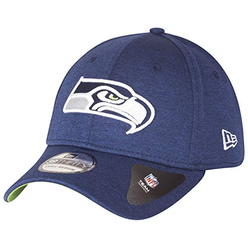 New Era 39Thirty Stretch Cap - Shadow Seattle Seahawks Navy -