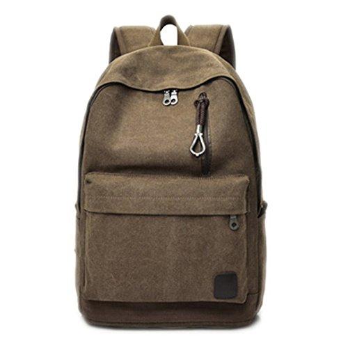 8dceaca8a1b81 Frauen Männer Leinwand Rucksäcke Große Schultaschen Für Teenager Jungen  Mädchen Reise Laptop Rucksack Rucksack Grau Brown