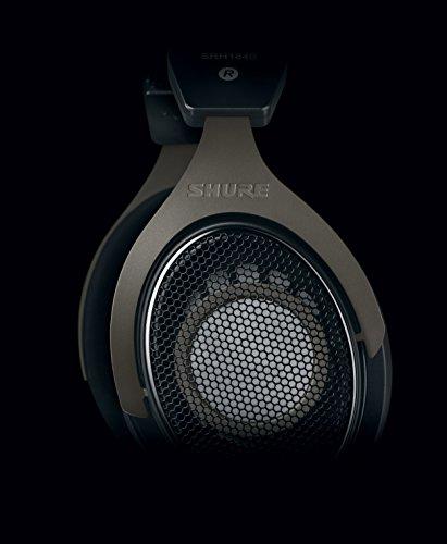 Shure SRH1840, offener Kopfhörer / Over-ear, schwarz/silber, High-End, geräuschunterdrückend, Kabel austauschbar, Velourpolster, natürlicher Klang, erweiterte Höhen, akkurater Bass, gematchte Wandler - 4