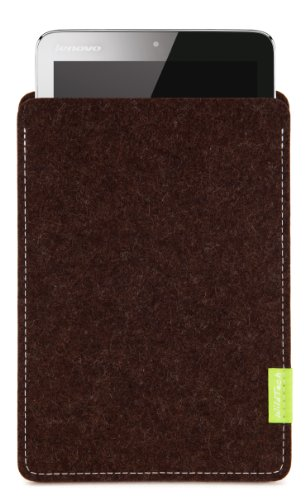 WildTech Sleeve für Lenovo A7-50 Tablet (A3500) Hülle Tasche - 17 Farben (Made in Germany) - Trüffelbraun