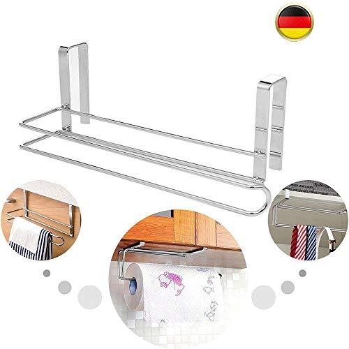 Niyaowozm Küchenrollenhalter Papierrollenhalter Handtuchhalter-Edelstahl-Schrankeinsatz