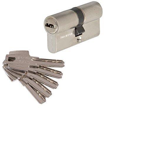 Tesa 3012430 Cilindro Seguridad T60 /30x30. Niquelado Leva Corta, 30x30mm