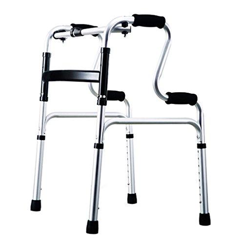 Leichte 2,3 kg faltbare Erwachsenen Senioren Rollator Assistive Walkers Klettern auf der abschüssigen zu Fuß Fram Aid 4 Leg Crutch | Aluminiumlegierung | Höhenverstellbar 70-88cm | Maximale Belastung 160kg ( Farbe : A )
