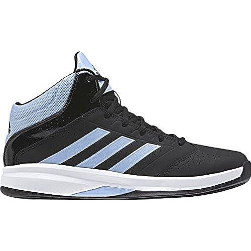 adidas Isolation 2 Mens Basketball High Top Trainer Shoe Black/ Blue - UK  8.5