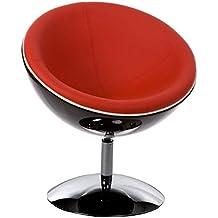 Amazon fauteuil boule rouge