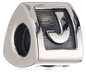 Pandora Sterling Silver Alphabet Letter - J Charm - 790323J - Moments Alpha Collection