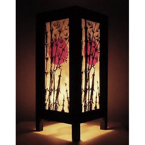 Rari Asiatici Orientali Mobili Arredamento Fatto a Mano Mestiere Thai Carta Lampada Comodini Tavolo Budda Stile Sole Cinese Bambù Camera Da Letto Casa Mobili in Thailandia