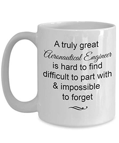 Regalos de ingeniero aeronáutico de la taza: realmente grandioso e imposible olvidar la taza de café, adiós, despedidas, ideas para regalos, taza de 11 oz