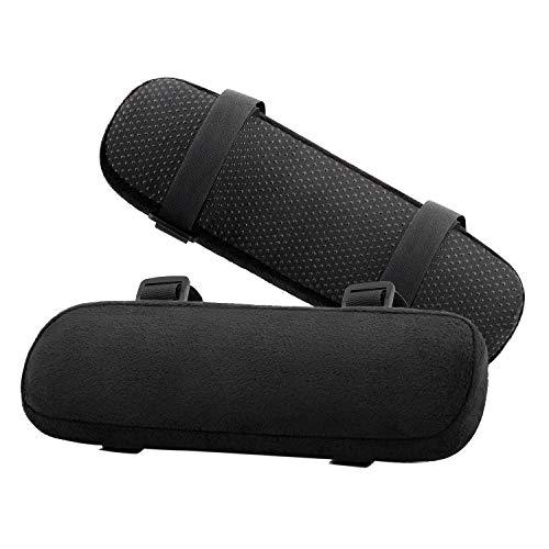 Schaum-stuhl-pad (Bürostuhl-Armabdeckungen, Weiches Ellenbogen-Kissen aus Gedächtnisschaum, Universelle Stuhl Armüberzüge für Ellenbogen und Unterarme Druckentlastung - Schwarz (2er Pack))