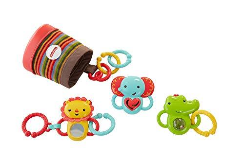 Imagen para Fisher-Price Trío actividad de paseo, juguetes colgantes para bebé (Mattel DFP25)