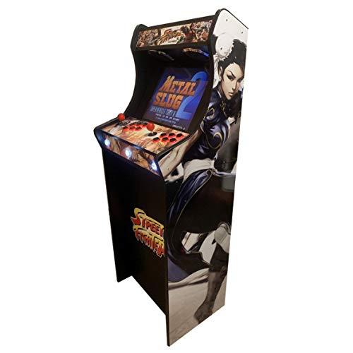 """Roboticaencasa Máquina Arcade Lowboy """" EDICIÓN Deluxe"""" Videoconsola Retro- Diseño Street Fighter"""