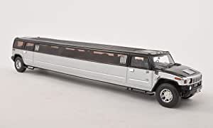 hummer h2 stretch limousine schwarz silber modellauto. Black Bedroom Furniture Sets. Home Design Ideas