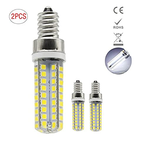 E12 LED Lampe, 1819®5W E12 LED Birnen, Ersatz für 40W Halogen Lampen, globaler 360° Abstrahlwinkel kühles Weiß 6000K AC220-240V 400lm CRI >80, 2 Pack [Energieklasse A+]