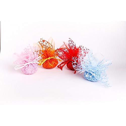 f95d8ead24e2 TrAdE Shop Traesio - 20 Sacchetti Velo VELETTI Organza Rete Tulle per  Confetti Matrimonio BOMBONIERE
