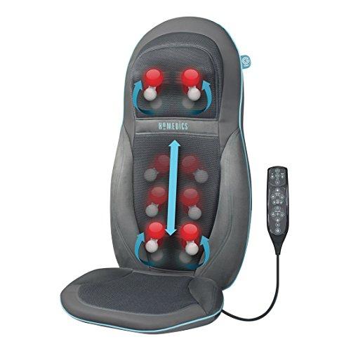HoMedics GEL Massageauflage - Gezielte, tiefenwirksame Shiatsu Rücken- und Schultermassage mit innovativer Gel-Technologie, Massage für den kompletten Rücken inkl. Nackenmassage, mit Wärmefunktion