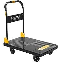 N&S - Carrito de transporte con plataforma (carga pesada 350 kg, plegado con una sola mano)