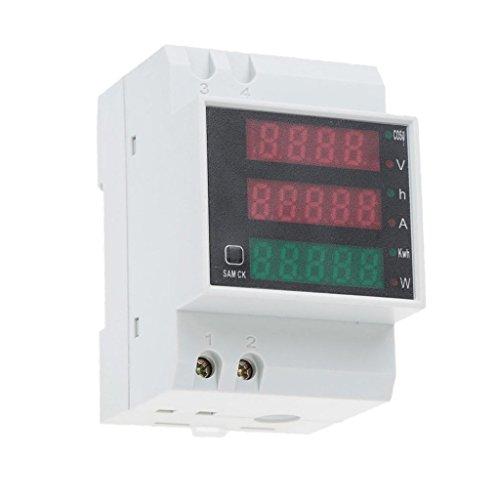 Gazechimp Ac80-300v Digital DIN-Schiene Stromspannung Stromzähler Amperemeter Voltmeter Power Meter
