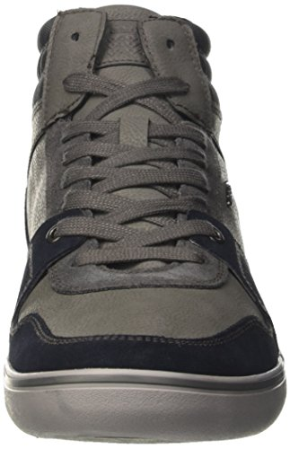 Geox U Box J, Sneakers Hautes Homme Gris (Navy/anthracite) ...