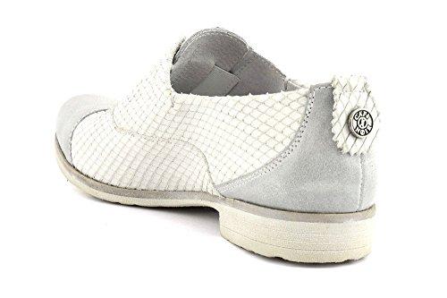 CAFè NOIR EB630 ghiaccio bianco scarpe donna francesina puntale senza lacci Bianco