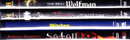 The History Channel : The Real Wolfman the History of Werewolves , Vampire Secrets the History of Vampires , Ancient Mysteries Witches the History of Witchcraft , Biography Satan the History of the Devil : Haunted Halloween 4 Pack Collection (Channel History Halloween)