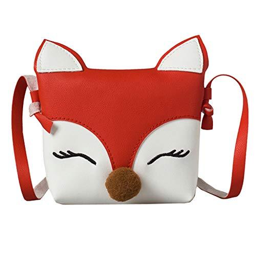 Frauen Handtasche Kinder Baby Mädchen Jungen Fox Umhängetasche Handtaschen Mini Crossbody Tasche Paket rot