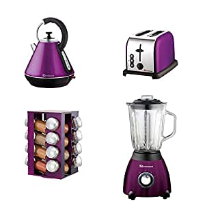matching kitchen accessories matching kitchen set of four items spice rack kettle 4039