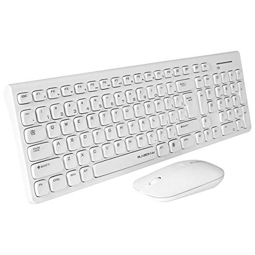 Qisan Wireless Mouse Teclado Combo Conjunto inalámbrico