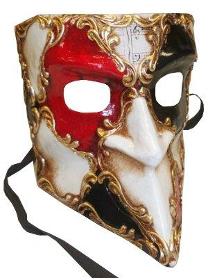 Deluxe maskuline Traditionelle Handgemachte Bauta (Venezianischer Karneval Full Face (Designs Maske Pappmaché)