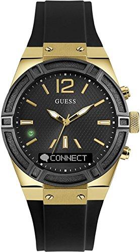 Guess Connect Reloj para Unisex Analógico/Digital de Cuarzo con Brazalete de Goma C0002M3