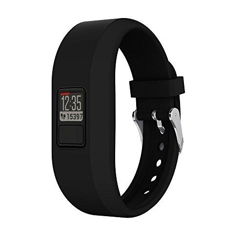 n Uhrenband Ersatzarmbänder Für Garmin Vivofit 3,Armbänder Weich Silikon Sport Fitness Smart Watch Zubehör Uhrenarmbänder Replacement Watch Band (Schwarz) ()