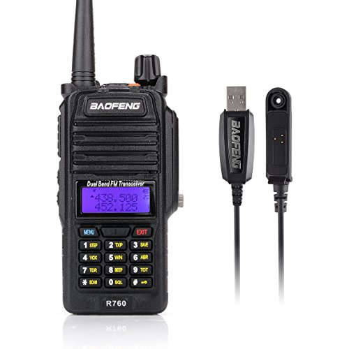 Baofeng R760 Wasserdicht IP57 136-174/400-520MHZ VHF/UHF Dual Band Amateur Handfunkgerät Two Way Radio Walkie Talkie+Programmierkabel-Lightwish (Spongebob Kostenlos Ein)