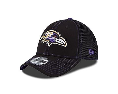 NFL Baltimore Ravens Crux Line Neo 39Thirty Stretch Fit Cap, Black, Medium/Large