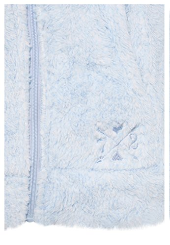 SUBLEVEL Damen Teddy-Fleece Mantel | Kuscheliger Langer Fleecemantel mit hohem Kragen Light-Blue