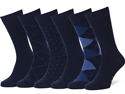 Easton Marlowe 6 PR Calcetines Sutilmente Estampados