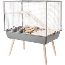 Cage Neo Muki Grand Rongeur L 77.5 X P 47.5 X H 87.5 Cm Grise 4aeb01416ecf