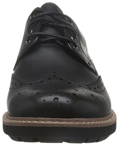Clarks Batcombe Wing, Scarpe Stringate Brouge Uomo Nero (Black Leather)