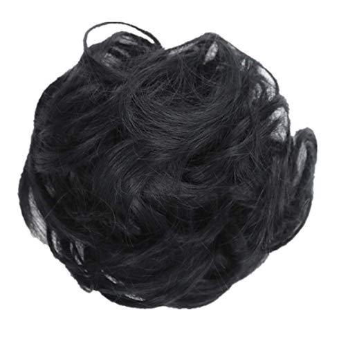 aarteil Dutt Synthetik Haare Für Haarknoten Zopf Gummiband Hochsteckfrisuren Haarband Frauen Lockiges Unordentliches Brötchen-Haar-Wirbel-Stück Scrunchie Perücken(A) ()