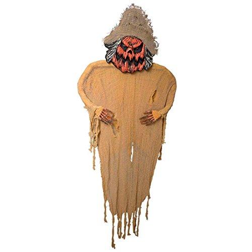 e Halloween Geist Deko 190 cm Vogelschreck Skelett Schreck Figur Schocker Artikel Herbst Dekoration (Halloween-schreck)