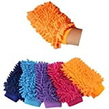 Polo miel guantes, coche de limpieza de microfibra guante, Premium Calidad & de limpieza de gamuza de limpieza para coche Auto Detailing 2Pack (color al azar)