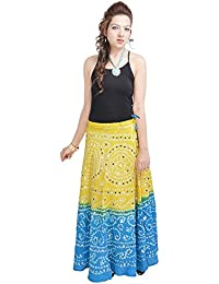 Sunshine Ecommerce Women's Mirror Work Bandhej Rajasthani Cotton Skirt And Lehanga