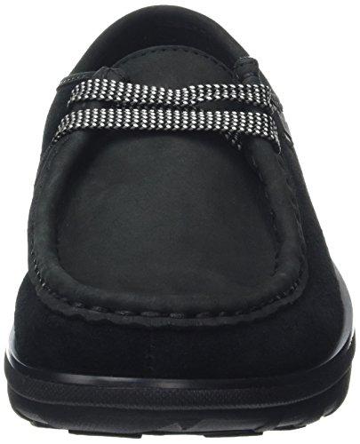 FitFlop Loaff Lace-up Moc Damen Slipper Black (Black 001)