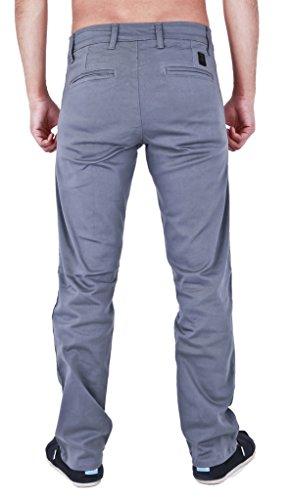 Da uomo Slim Fit Elasticizzato Twill pantaloni Jeans Grey