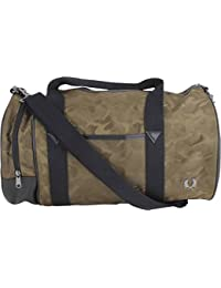 Fred Perry Men's Jacquard Men's Camo Khaki Barrel Bag 100% Polyester