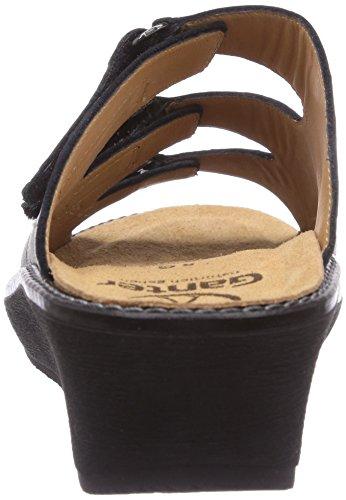 Ganter GRACIA Weite G Damen Pantoletten Grau (schwarz 0100)