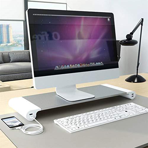 Bildschirmständer Notebooktisch Notebookständer Laptopständer Computertisch Bildschirmständer,Aluminium Laptop PC Monitor Stand Riser Schreibtisch Organizer mit 4 USB-Ports (Silver) Samsung Stand-notebook-pc