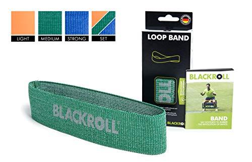 BLACKROLL  Fitnessband Loop Band Trainingsband Gymnastikband Sportband mit mittlerer Dehnbarkeit, grün, One Size, AMLBGN 6 Cm Band