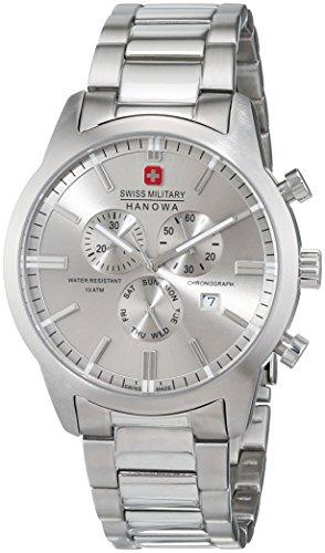 Swiss Military Hanowa Reloj Analógico para Hombre de Cuarzo con Correa en Acero Inoxidable 6-5308.04.009