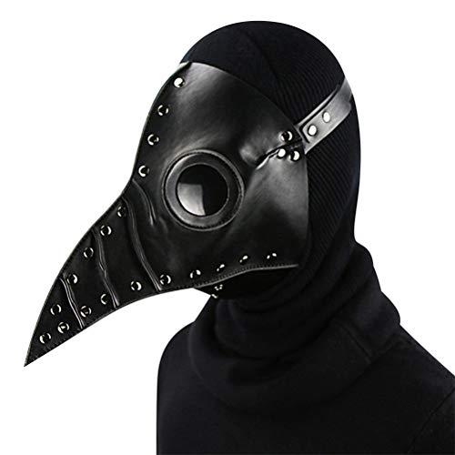 Jiahe Punk Maske Pest Doktor Maske Halloween Requisiten Kostüm Steam Gothic Cosplay Maske,Black